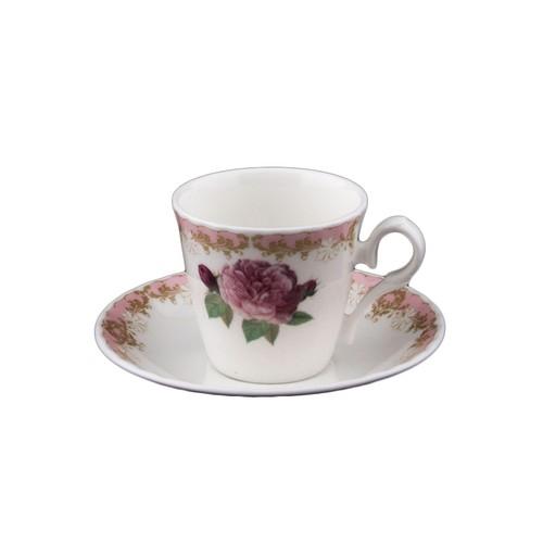 Roy Vintage Rose Kahve Fincanı Pembe