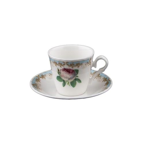 Roy Vintage Rose Kahve Fincanı Turkuaz