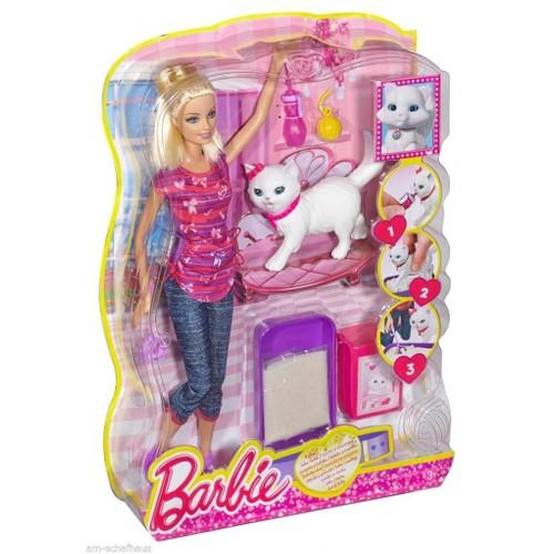 Barbie Bebek ve Kedicik - Barbie'nin Kedisi Tuvalet Eğitimi