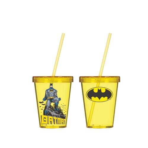 Batman Bardak - Pipetli Bardak