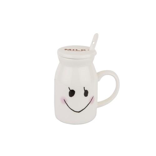 Tantitoni Seramik Kapaklı 3 Parça Milk Kupa