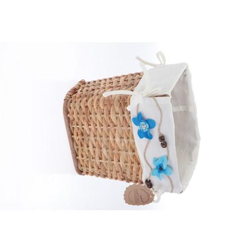 Kancaev Hasır, Açık Kahverengi Çöp Sepeti, Mavi Çiçekli