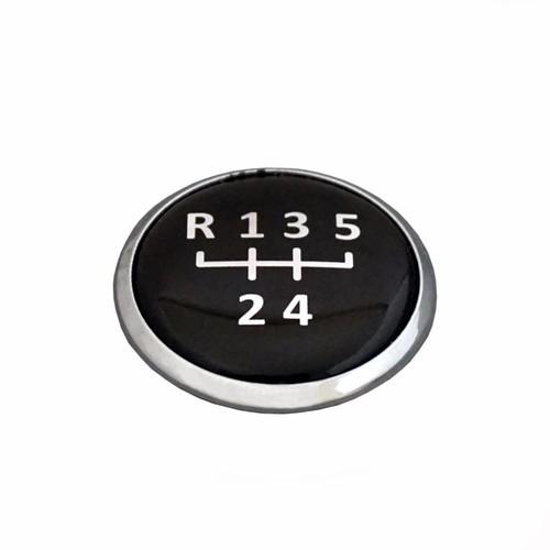 VW LUPO 6X1 1999-05 İçin Siyah Renk 6 İleri Vites Topuzu Amblemi
