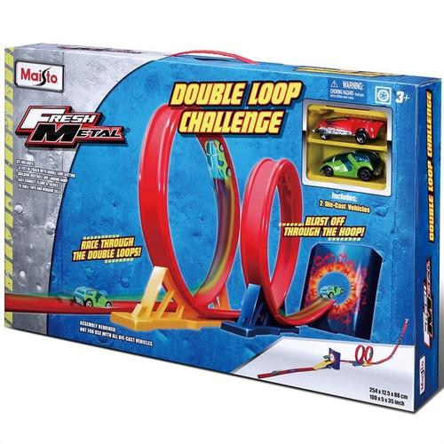Maisto Fresh Metal Double Loop Challenge Yarış Oyun Seti