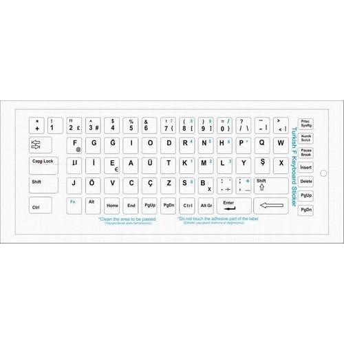 Türkçe Beyaz F Klavye Etiketi
