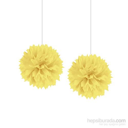 Kullanatmarket Sarı Ponpon Süs 2'Li 2 Adet