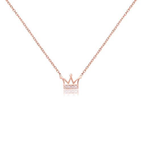 Coşar Silver Kral Tacı Gümüş Kolye CZ0895N
