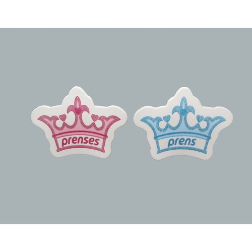 Tahtakale Toptancısı Sticker Taç Prens/Prenses (50 Adet)