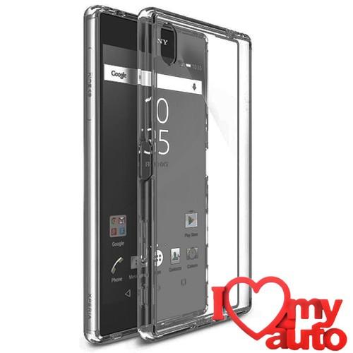 CoverZone Sony Xperia Z5 Premium Kılıf Full Kristal Kapak Antrasit + 3d Araç Kokusu