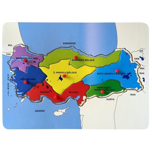 Bu Bu Ahsap Puzzle Turkiye Haritasi Bolgeler 30x21 5cm Fiyati