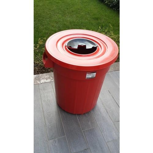 Bahat Çöp Kovası 120 Lt -Kapaklı