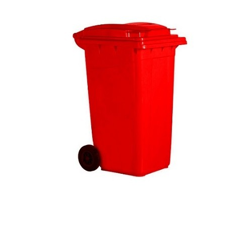 Hp Çöp Konteyneri 120 Lt- Kırmızı