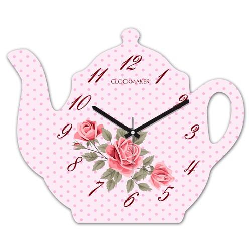 Clockmaker By Cadran 30x25 MDF Demlik Duvar Saati CMM208