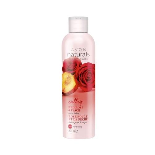Avon Naturals Red Rose & Peach Vücut Losyonu - 200ml