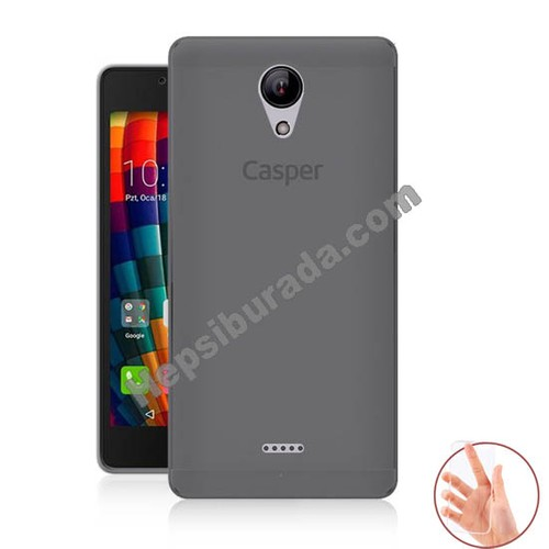 Teknomeg Casper Via E1 Füme Silikon Kılıf