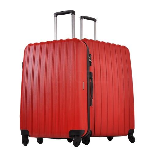 Ground 2'Li Valiz Büyük Ve Orta Boy Bavul Kırmızı 10522