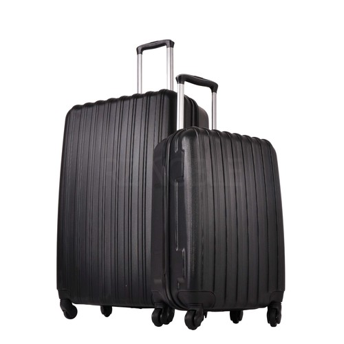 Ground 2'Li Valiz Büyük Ve Kabin Boy Bavul Siyah 10522