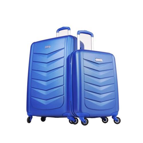 Pierre Cardin Büyük Ve Kabin Boy Mavi 2Li Valiz Seti Polikarbon