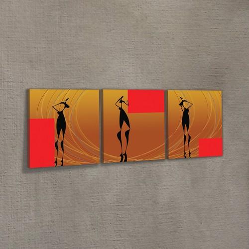 Artikel Water Dancing 3 Parça Kanvas Tablo 40X120 Cm