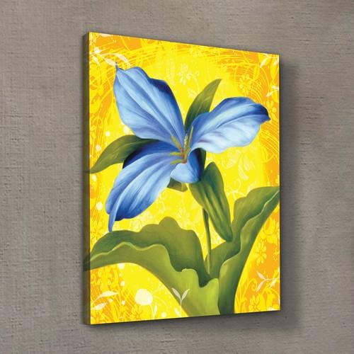 Artikel Blue Flower Kanvas Tablo