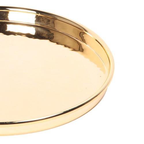 Altın Kaplama Yuvarlak Tepsi 23 cm