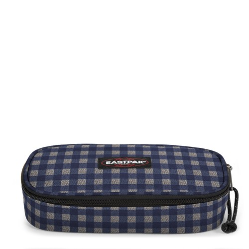 Eastpak Oval Single (Checksange Blue) Kalem Çantası Eas.Ek71731M