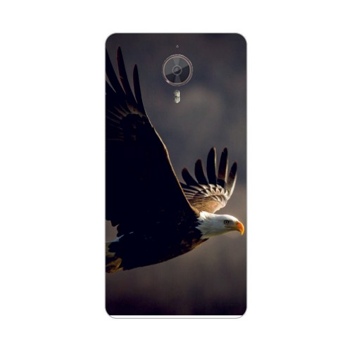 Bordo General Mobile Discovery 4G Android One Kapak Kılıf Kartal Baskılı Silikon