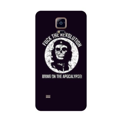 Bordo Samsung Galaxy Note 4 Kapak Kılıf Che Guevara Baskılı Silikon