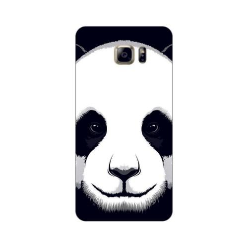 Bordo Samsung Galaxy Note 5 Kapak Kılıf Panda Baskılı Silikon