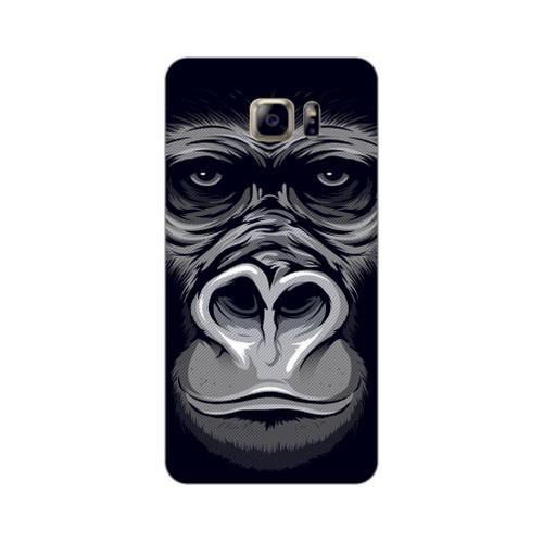 Bordo Samsung Galaxy Note 5 Kapak Kılıf Goril Baskılı Silikon