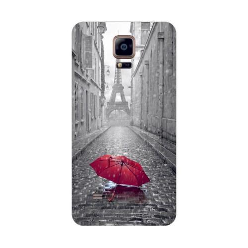 Bordo Samsung Galaxy Alpha Kapak Kılıf Paris Baskılı Silikon