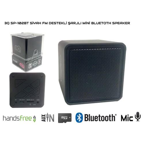 3Q Sp-102Bt Siyah Mikro Sd Şarjlı Mini Bluetoth Speaker