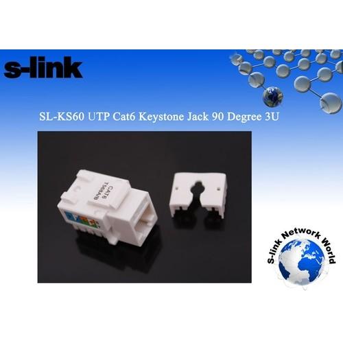 S-Lınk Sl-Ks60 Cat-6 Utp Keystone Jack3U 90°