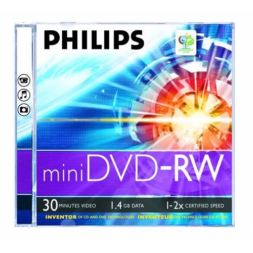 Phılıps 1.4 Gb 2 X Tekli Kutulu 30Mın Mini Dvd-Rw