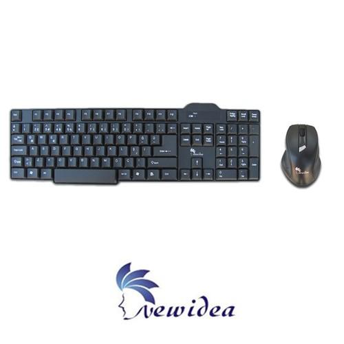 Newıdea Kb-Rf05 -Q- Türkçe Siyah Klavye-Mouse Kablosuz Set