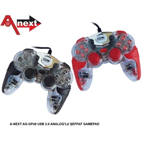 Aneex Ag-Gp40 Usb 2.0 Analoglu Şeffaf Gamepad