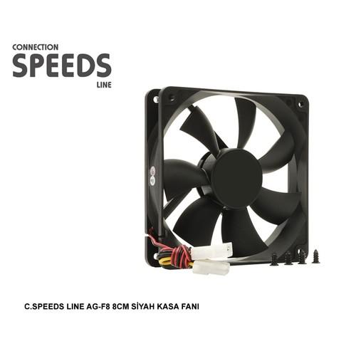 C.Speeds Lıne Ag-F8 8Cm Siyah Kasa Fanı