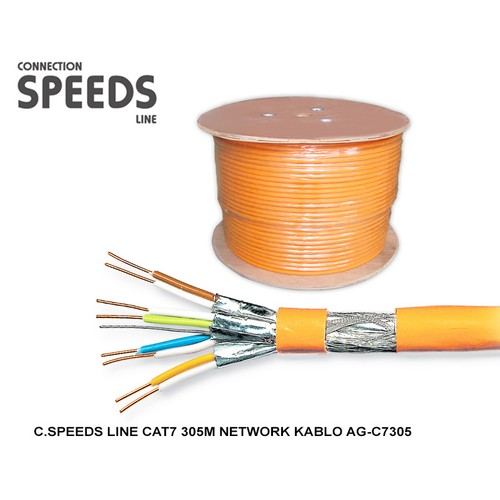 C.Speeds Lıne Cat7 305M Network Kablo Ag-C7305