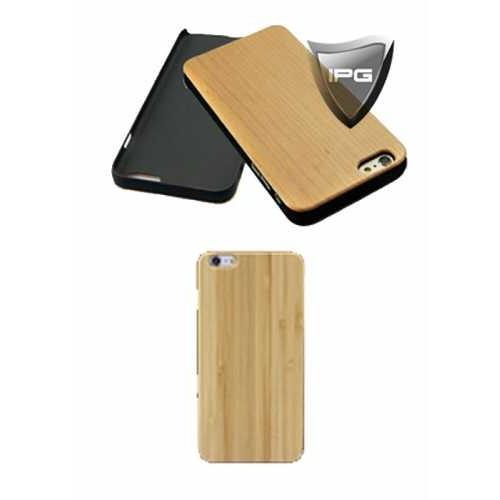 """IPG Apple iPhone 6 / 6S 4.7"""" için Doğal Ahşap Bambu Arka Kılıf (Bambu)"""