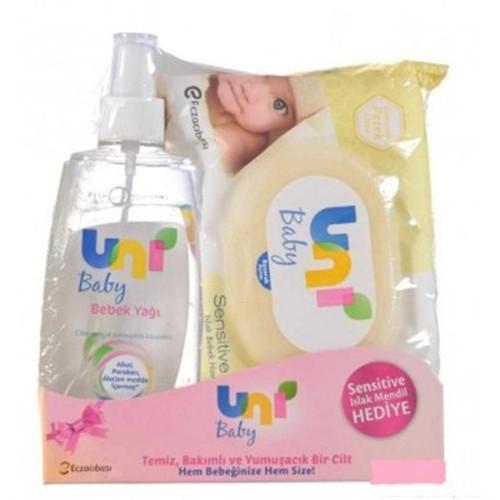 Uni Baby Bebek Yağı + Islak Mendil Hediyeli!
