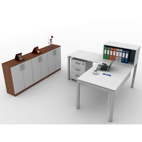 Kenyap 821043 Rena Büyük Ofis Takımı-160 lık Masa-Beyaz Tip-1