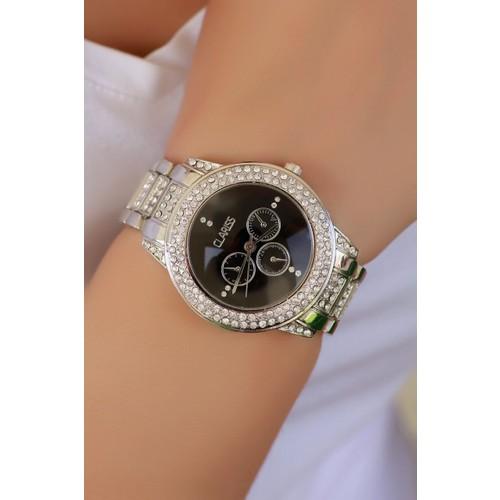 Clariss Marka Gri Tasarımlı Bayan Saat
