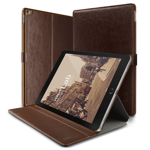 Verus iPad Pro Case Dandy 9.7 Layered Series Kılıf Dark Brown