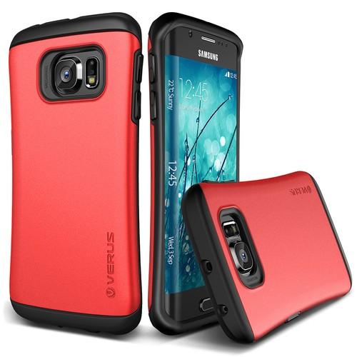 Verus Galaxy S6 Edge Thor Kılıf HARD DROP Crimson Red