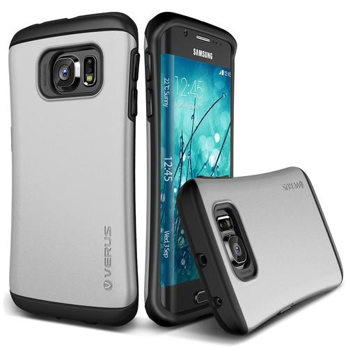 Verus Galaxy S6 Edge Thor Kılıf HARD DROP Light Silver