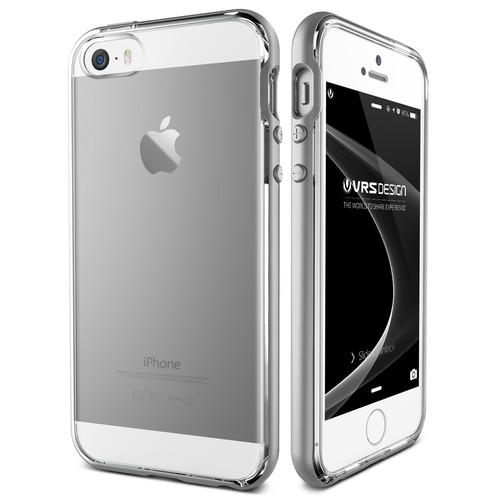 Verus iPhone SE Crystal Bumper Series Kılıf Light Silver