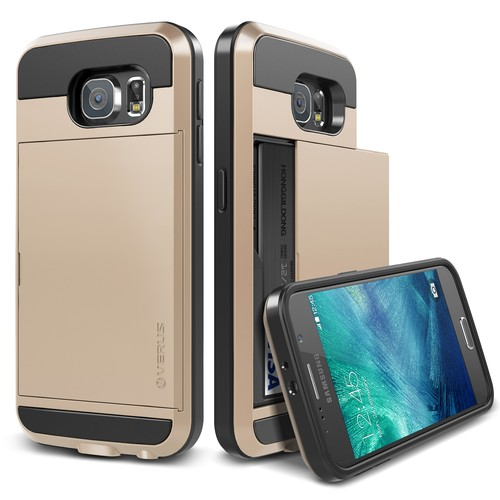 Verus Galaxy S6 Case Damda Slide Kılıf Shine Gold