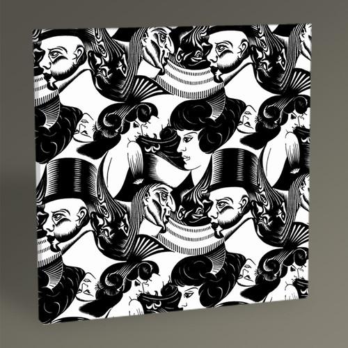 Tablo360 MC Escher Eight Heads Tablo 30 x 30