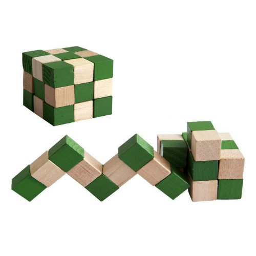 Toptancı Kapında Yılan Küp Ahşap Puzzle