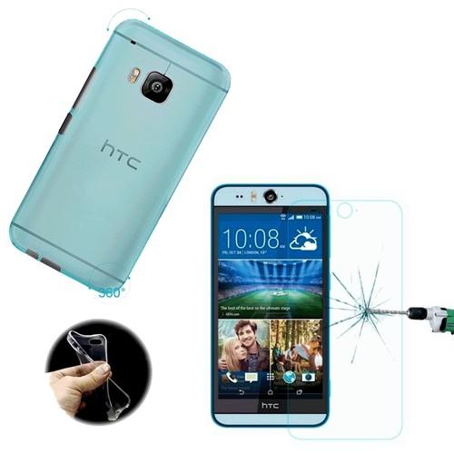 Toptancı Kapında Htc Desire 816 Mavi Silikon Kılıf + Kırılmaz Cam
